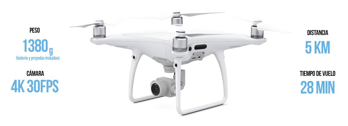 DJI Phantom 4 desde arriba drones